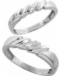 White Gold Wedding Ring Sets by Bargains On 10k White Gold Diamond 2 Piece Wedding Ring Set His
