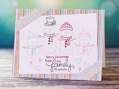 snowman family card by shellye mcdaniel for newton s nook designs