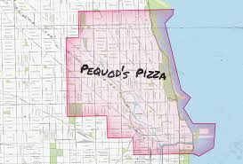 Chicago Area Code Map by Chicago Pizza Delivery Map Piece Salernos Pequods And More