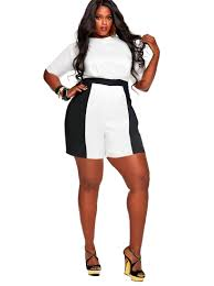 trendy plus size jumpsuits a statement in these monif c plus size rompers monochrome