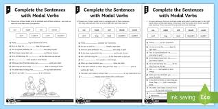 complete the sentences with modal verbs differentiated activity