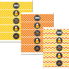halloween bottle lables halloween candy corn water bottle labels by that party