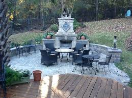 how to build an outdoor fireplace on a deck cool outdoor deck