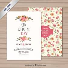 wedding invitations free wedding invitation template vector free