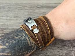 fitbit bracelet leather images Artisan brown leather bracelet for fitbit alta alta hr fitness