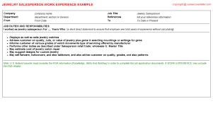 Real Estate Appraiser Resume Jewelry Appraiser Cv Work Experience Samples