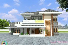 Home Front Design by Modern House 2700 Sq Ft Kerala Home Design And Floor Plans