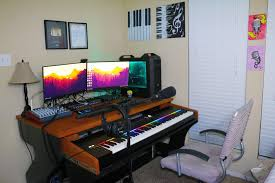 my setup for my youtube channel music gaming battlestations