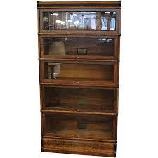 quarter sawn oak globe wernicke 5 stack barrister bookcase globe