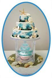 Cake Decorations Beach Theme - beach wedding cake boxer dogs beach wedding cake topper with