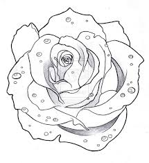 24 best traditional rose tattoo outline images on pinterest