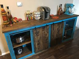 ana white sliding barn door buffet console diy projects