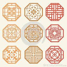 korean design korean design pattern korean old of window frame symbol sets