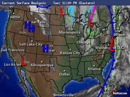 weather fronts map intellicast current surface analysis in united states