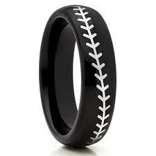 baseball wedding band black tungsten collection black wedding bands page 3 clean