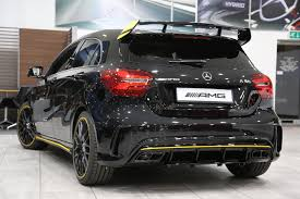 used 2017 mercedes benz a class amg a 45 4matic yellow night