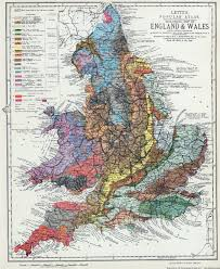 Map Of Wales England by Geological Map Of England U0026 Wales 1883 By H W Barstow Large