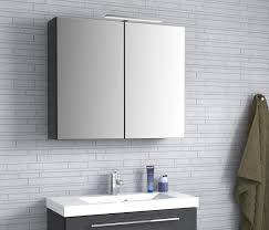 mirror cabinet with light 800mm black mr80bk 390 00 just