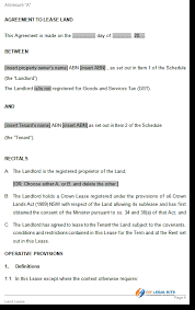 land lease agreement template lease for agricultural land agreement template