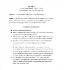 Sample Event Planner Resume Objective by Event Planner Resume Marketingevent Planning Intern Resume