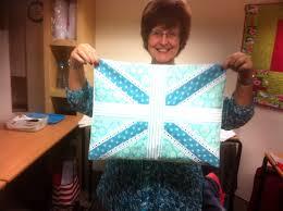 Blue Union Jack Cushion Quilters Cottage Norfolk Union Jack Cushions