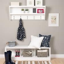 prepac floating entryway shelf and coat rack walmart com