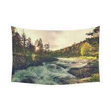 river home decor interestprint woodland nature wall art home decor river in norway