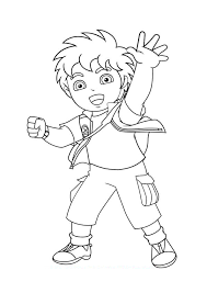 go diego go say hello to a friend go diego go coloring pages