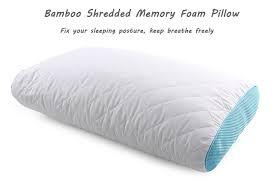 Hotel Comfort Memory Foam Pillow Hotel Comfort Aloe Vera Miracle Bamboo Shredded Memory Foam Neck