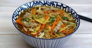 recette cuisine asiatique bouillon asiatique au veau nouilles et légumes recette par