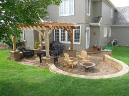 decor stackable stone design ideas for patio decoration with