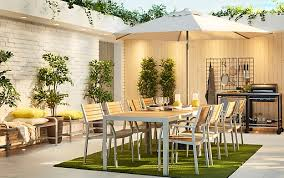 modern outdoor dining table covered porch furniture a large modern outdoor dining setting with