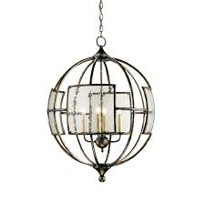 Orb Ceiling Light Currey Company Pyrite Bronze Four Light Broxton Orb Chandelier