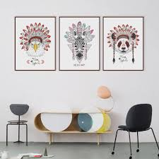 Nordic Home Aliexpress Com Buy Modern Indian Animals Head Deer Horse Zebra