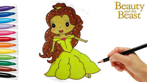 how to draw disney princess belle l beauty and the beast