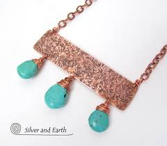 copper jewelry necklace images Turquoise copper statement necklace bold exotic cleopatra jpg