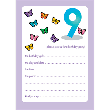 10 childrens birthday party invitations 9 years old bpif 45