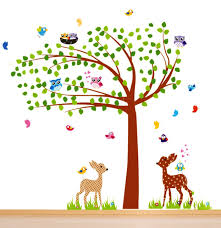 amazon com nursery wall decals nursery tree wall decals xl amazon com nursery wall decals nursery tree wall decals xl nursery bambi owls birds wall decor kids room wall decals baby