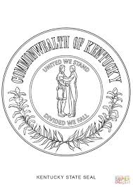 kentucky state seal coloring page free printable coloring pages