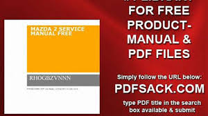 mazda 2 service manual free video dailymotion