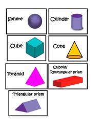 3d shape teaching ideas