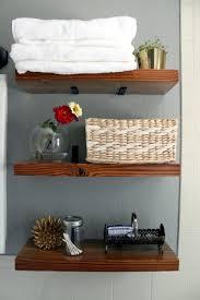 Hanging Bathroom Shelves Bathroom Shelves How To Make A Hanging Bathroom Shelf For Only 10