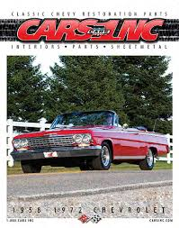 cars inc 1958 1972 fullsize chevy catalog restoration parts v15