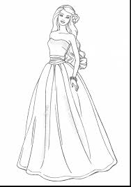 beautiful barbie dresses coloring pages with dress coloring pages