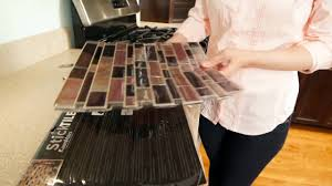 How To Install Tile Backsplash In Kitchen How To Install Sticktile Peel U0026 Stick Backsplashes In 5 Minutes