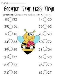 kindergarten greater than less than worksheets worksheets