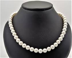 pearl size necklace images Fresh water pearl necklace 1 row pearl size approx 7 5 mm jpg