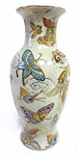 Chinese Hand Painted Porcelain Vases Amazon Com Vintage Porcelain Vase 12 Inch Chinese Butterfly