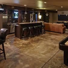 Concrete Floor Ideas Basement Best 25 Stained Cement Floors Ideas On Pinterest Concrete