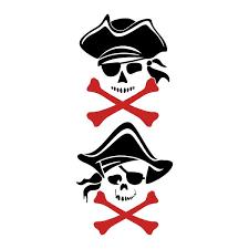 pirate skull crossbones cuttable design